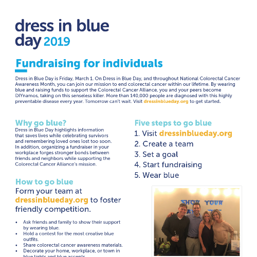 Dress in Blue Day 2019 Fundraising Toolkit for Individuals
