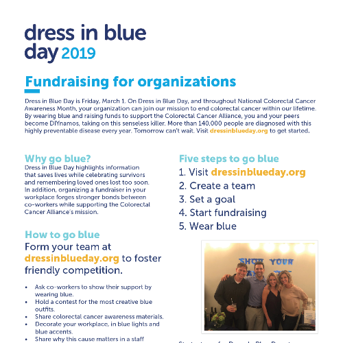 Dress in Blue Day 2019 Fundraising Toolkit for Organizations