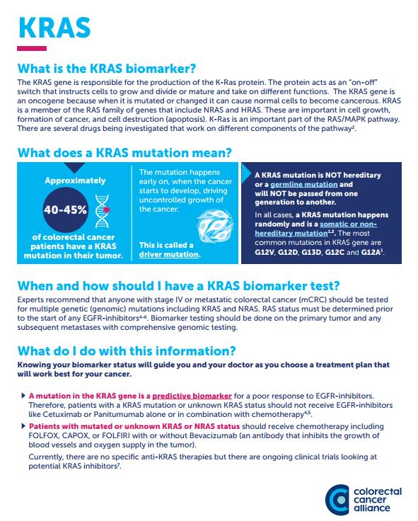 Kras Biomarker Colorectal Cancer Alliance