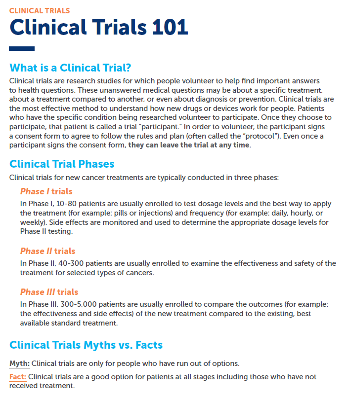 Clinical Trials Colorectal Cancer Alliance