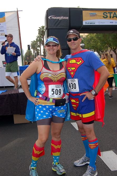 The awesome costume contest winners: Heather Johnson and Lee Guscott!